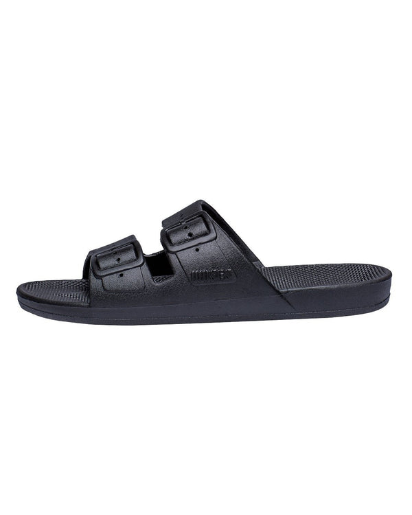 FREEDOM MOSES SLIDES - BLACK - Envy - online clothing