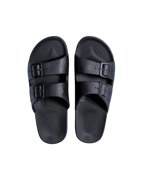 FREEDOM MOSES SLIDES - BLACK - Envy