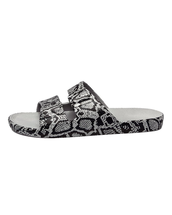 FREEDOM MOSES SLIDES - COBRA GREY - Envy - online clothing