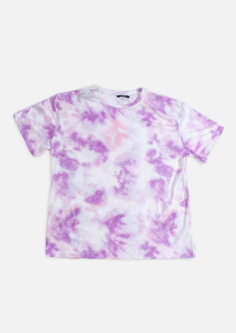 Cycle Shorts & Tee Tie Dye Set - PURPLE