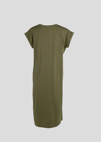 Khaki T-shirt Dress