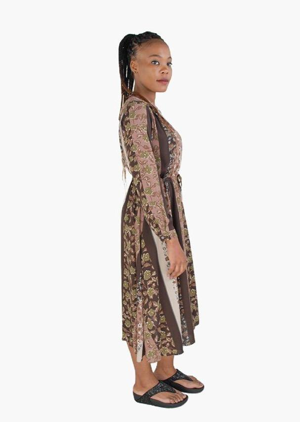 Floral Long Sleeve Dress - Envy - online clothing