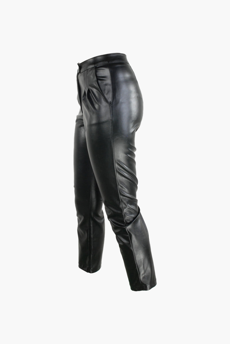 PENELOPE CROPPED FAUX LEATHER PANTS - Envy - online clothing