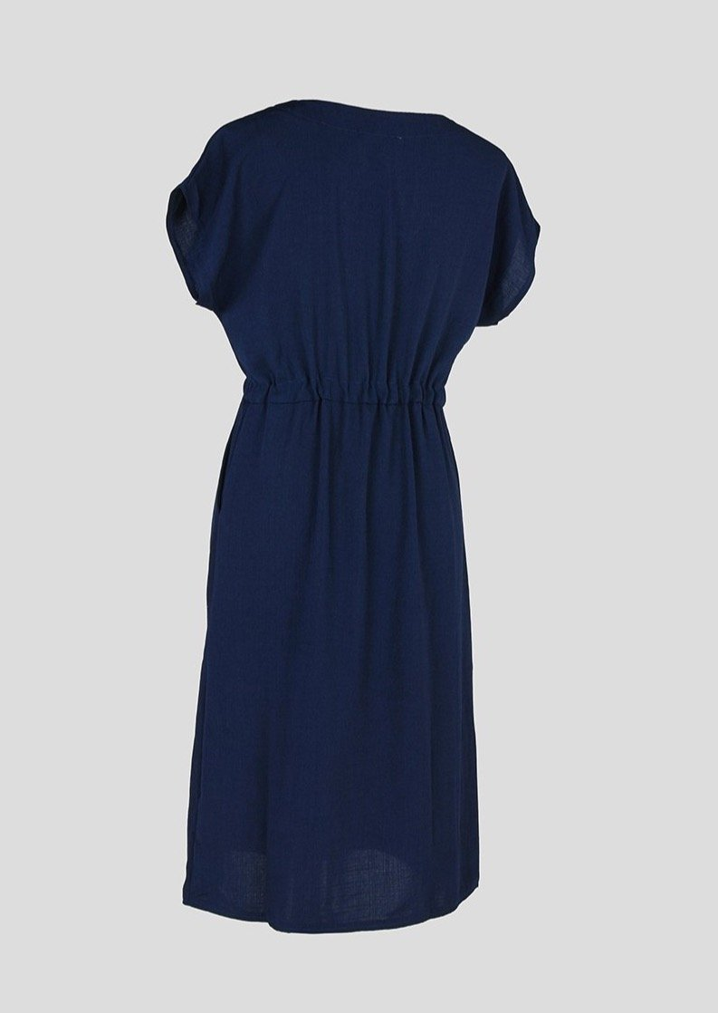 T-shirt Dress with Pockets Blue - Envy - online clothing