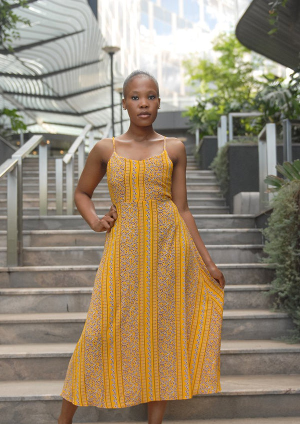 Estelle Boho Dress Yellow