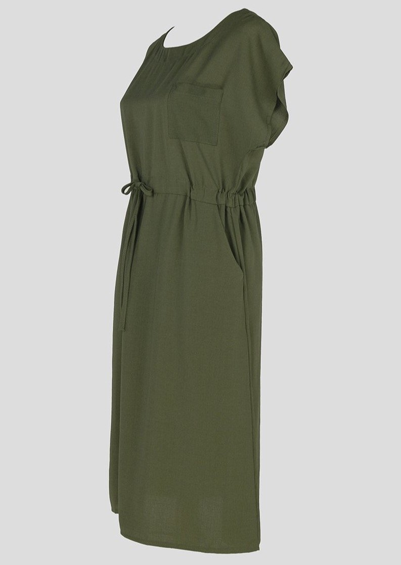T-shirt Dress with Pockets Green - Envy - online clothing