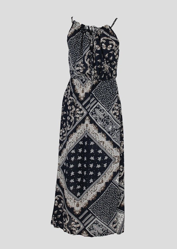 Navy Print Maxi Dress - Envy - online clothing
