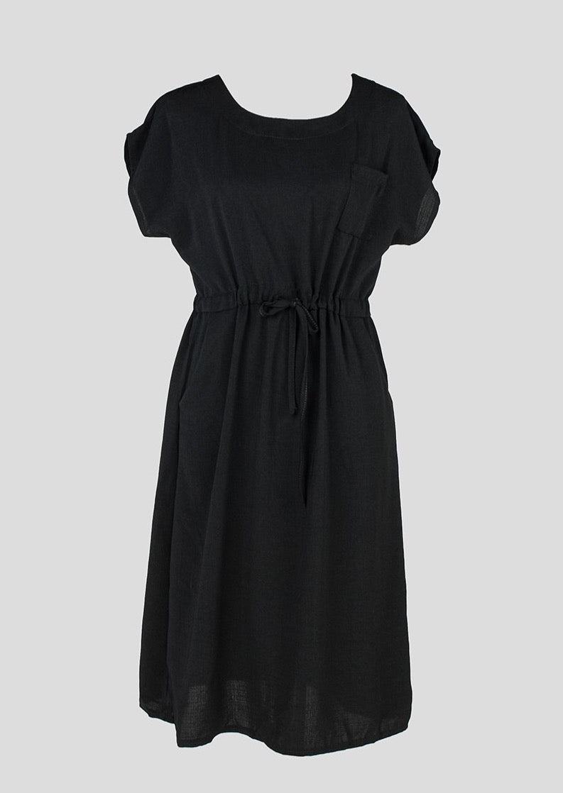 T-shirt Dress with Pockets Black - Envy - online clothing