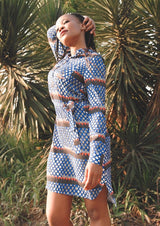 OLIVIA DRESS IN MERAKI PRINT