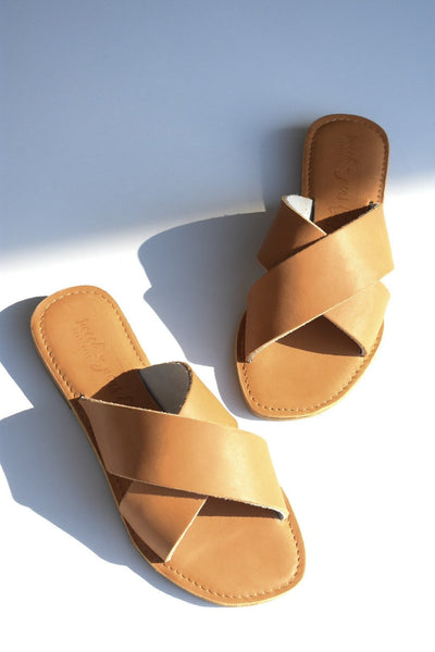CAPRICE Leather Sandal - Tan