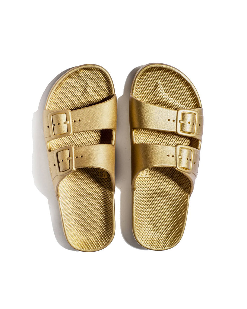 FREEDOM MOSES SLIDES - GOLDIE - Envy online clothing store south africa