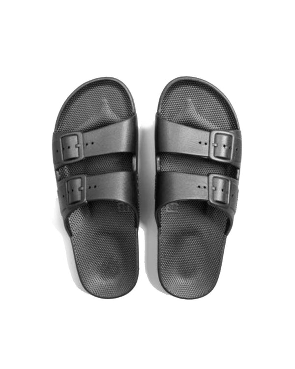 FREEDOM MOSES SLIDES - GUN METAL - Envy - online clothing