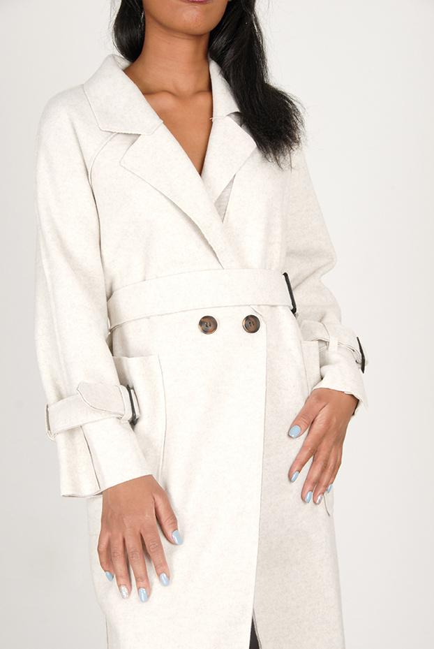 NUDE WINTER COAT WITH BUCKLE DETAIL - Envy - online clothing