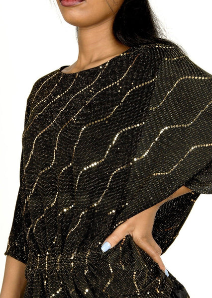 Harper Metallic Wide Sleeve Top - Envy online clothing store south africa