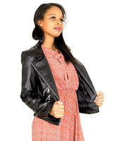 HARPER Biker Inspired Faux Leather Jacket - Envy - online clothing