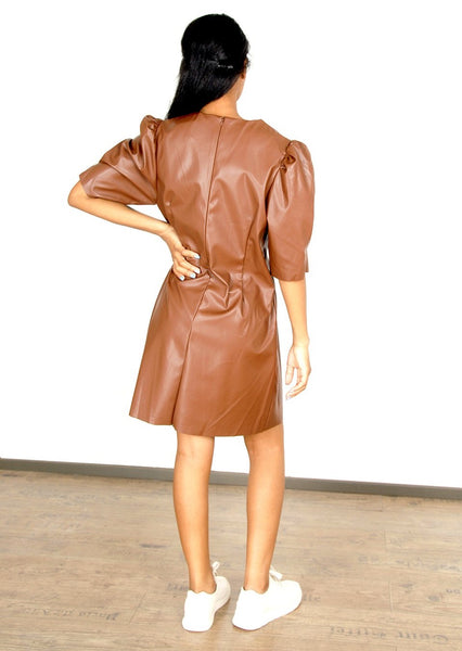 HARPER RUSH PU DRESS - Envy online clothing store south africa