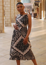 Black Print Maxi Dress - Envy - online clothing