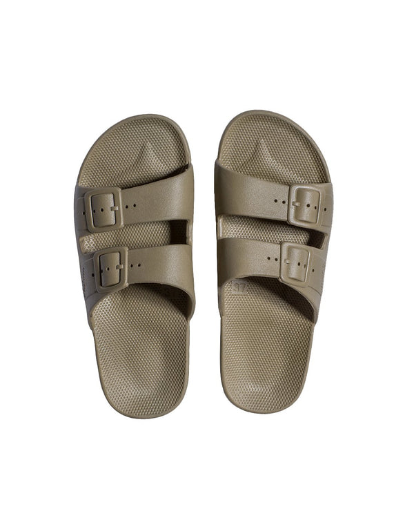 FREEDOM MOSES SLIDES - KHAKI - Envy - online clothing