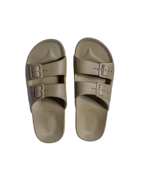 FREEDOM MOSES SLIDES - KHAKI - Envy