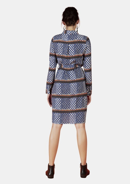 OLIVIA DRESS IN MERAKI PRINT - Envy