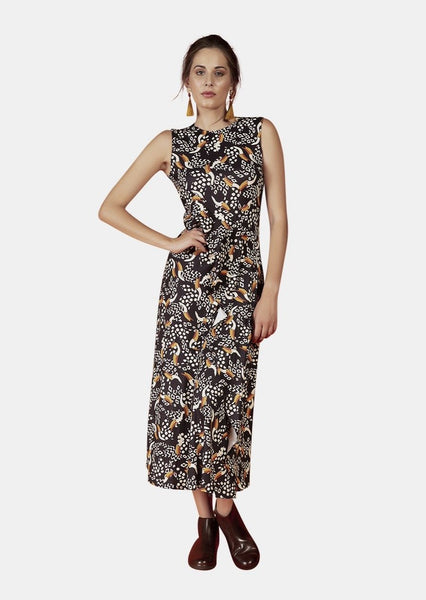 GEORGIA DRESS IN TOUCAN PRINT - Envy
