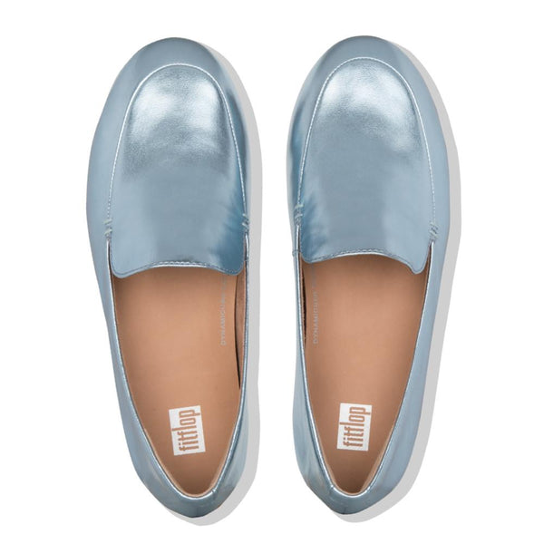 Lena Metallic Loafer Ice Blue - Envy