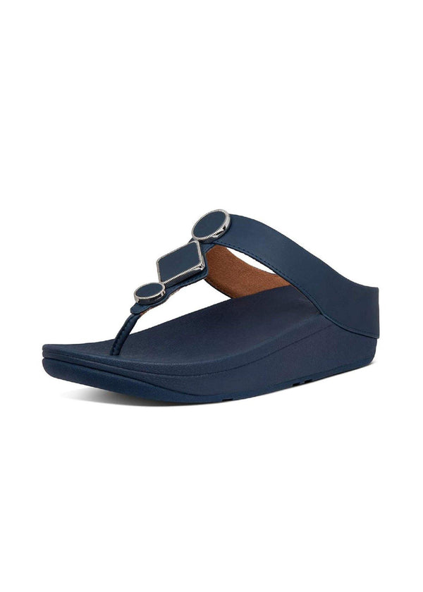 Leia Leather Toe Thongs Midnight Navy - Envy - online clothing