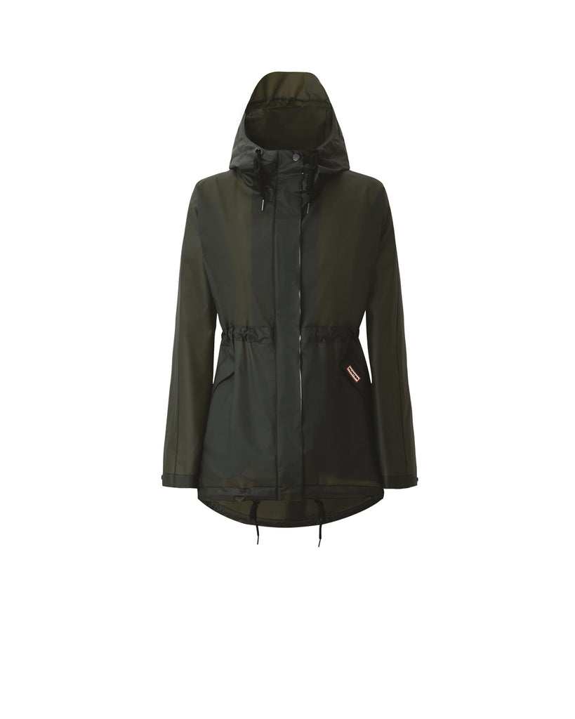 HUNTER - Womens Original Vinyl Smock - Dark Olive - Envy