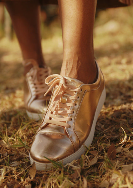 RALLY Metallic Sneaker - Rose Gold