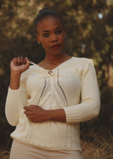 Textured V-neck Knit Top. - Envy online clothing store south africa