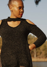 Cut Out Knitted Top - Envy - online clothing