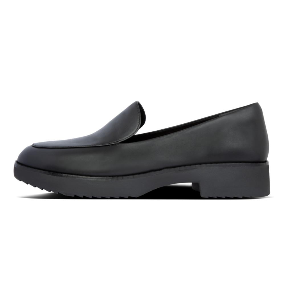 Talia Leather Loafers All Black - Envy