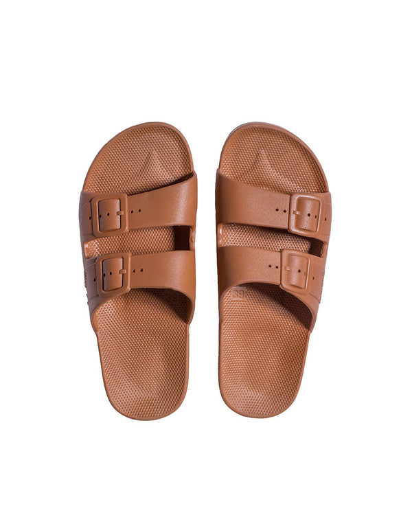 FREEDOM MOSES SLIDES - TOFFEE - Envy - online clothing