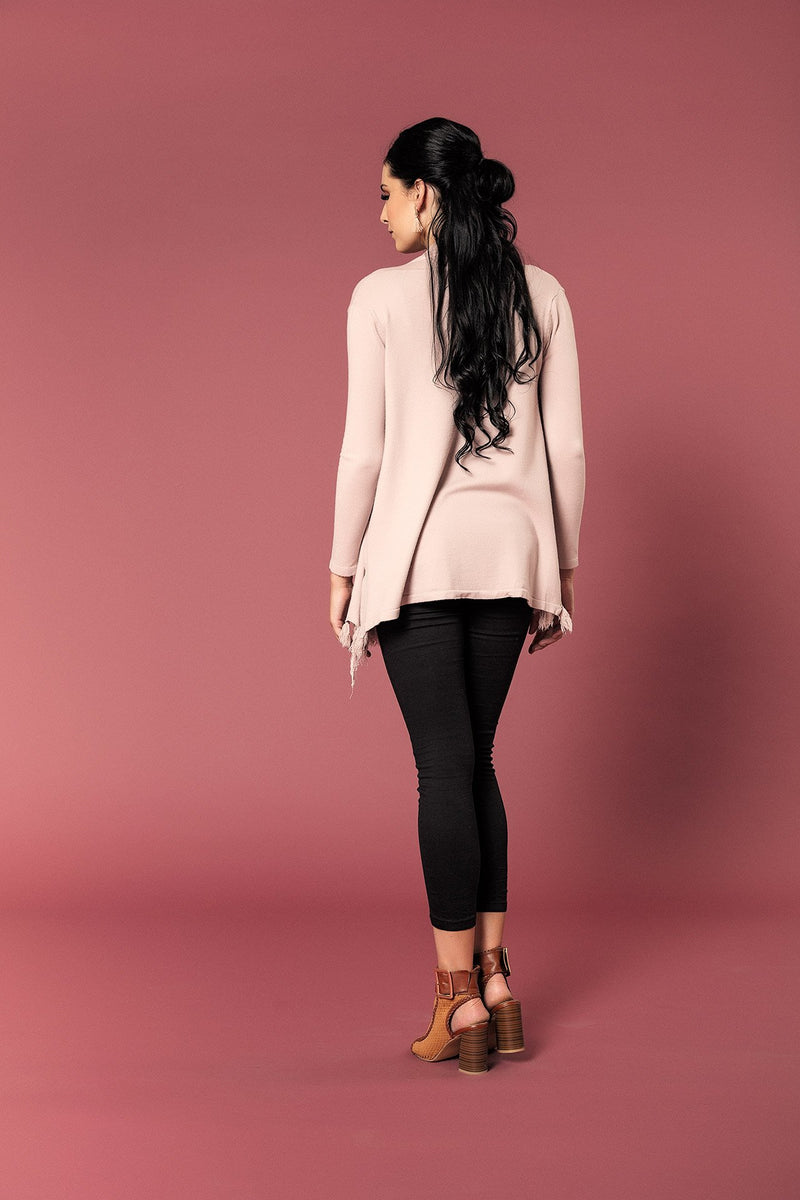 SOFT KNIT CARDI WITH TASSLED HEMLINE - Envy online clothing store south africa