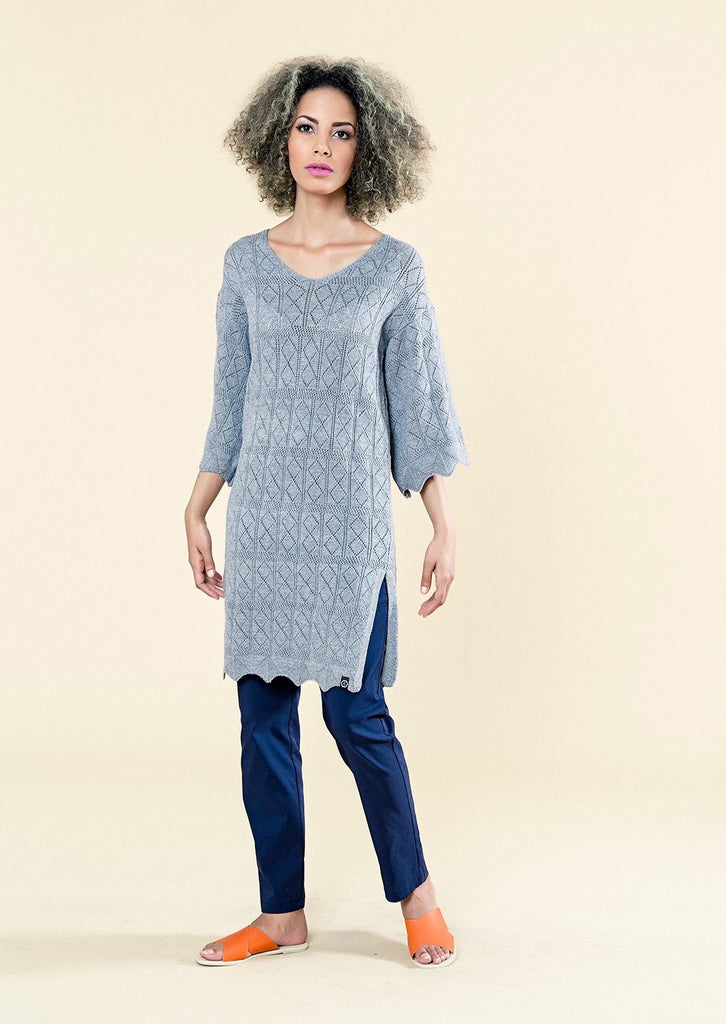 BELL SLEEVE KNIT TUNIC - Envy