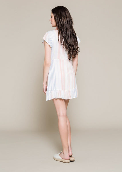 FRILLED FOLDOVER DRESS WITH OPEN BACK - Envy