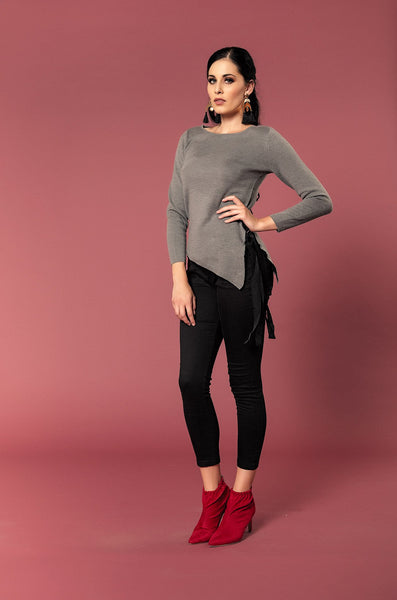 ROUND NECK KNIT TOP - Envy