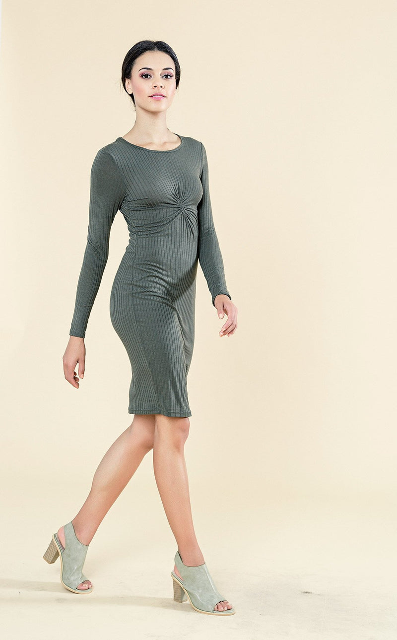 TWIST BODYCON FITTED DRESS - Envy online clothing store south africa