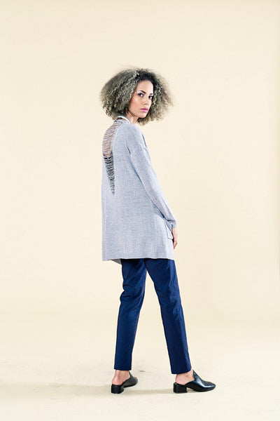 LIGHT KNIT CARDI WITH OPEN BACK DETAIL - Envy