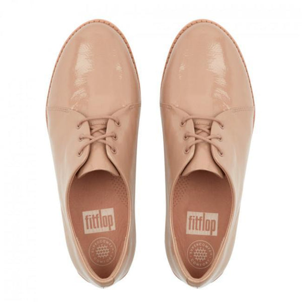 Derby Crinkle Patent Taupe - Envy