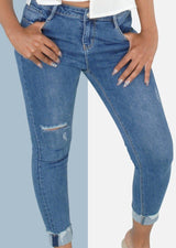Gaia Distressed Denim - Envy - online clothing