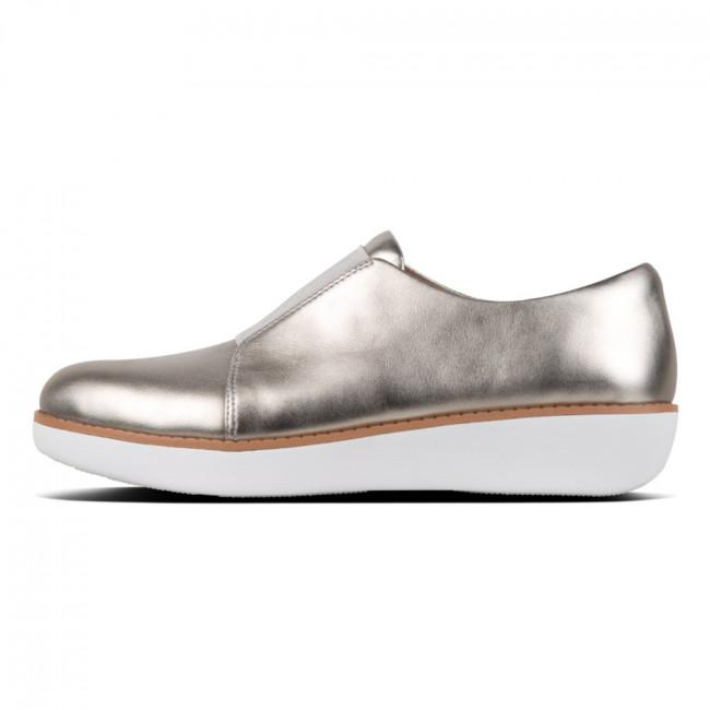 Derby Laceless - Metallic Leather Silver - Envy - online clothing