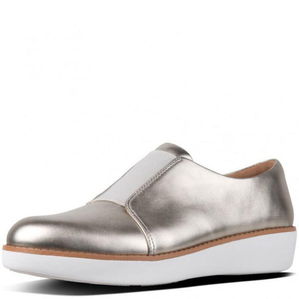 Derby Laceless - Metallic Leather Silver - Envy