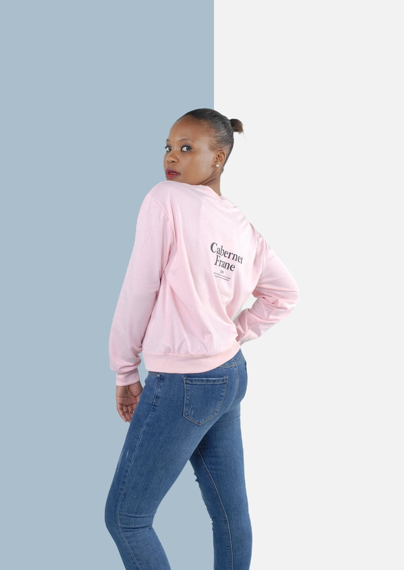 """Carbenet Frane"" Sweater in Pink"