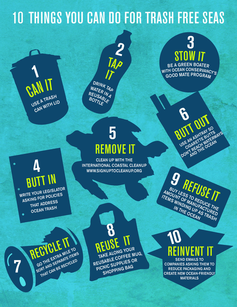 10 THINGS YOU CAN DO FOR TRASH FREE SEAS!