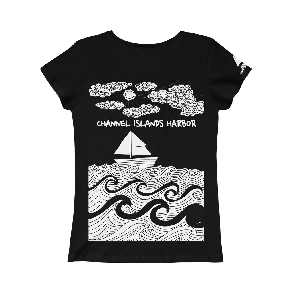 Channels Islands Harbor  Princess Design Tee-PoHuLocal