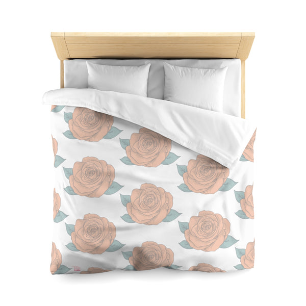 PoHuLocal-Sleep Under Roses Microfiber Duvet Cover