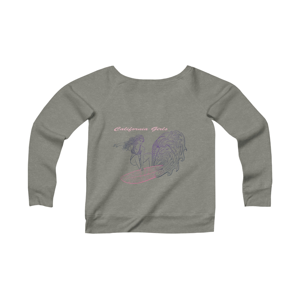 California Girls  Women's  Wide Neck Sweatshirt-PoHuLocal