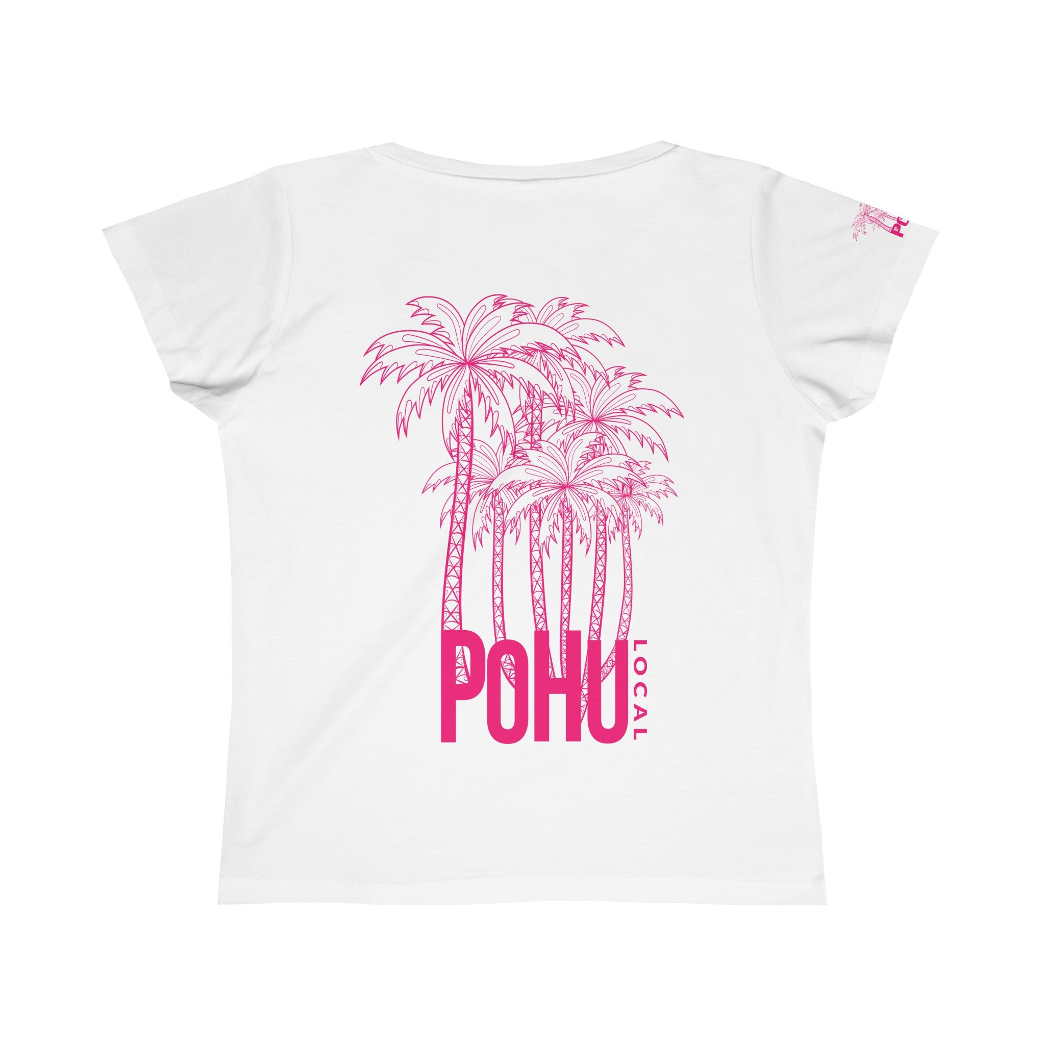 Vanessa Design Ladies Fine Scoop Neck T-Shirt-PoHuLocal