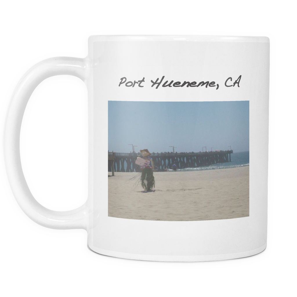 Printed Ceramic Coffee Miss Port Hueneme Mug - PoHuLocal